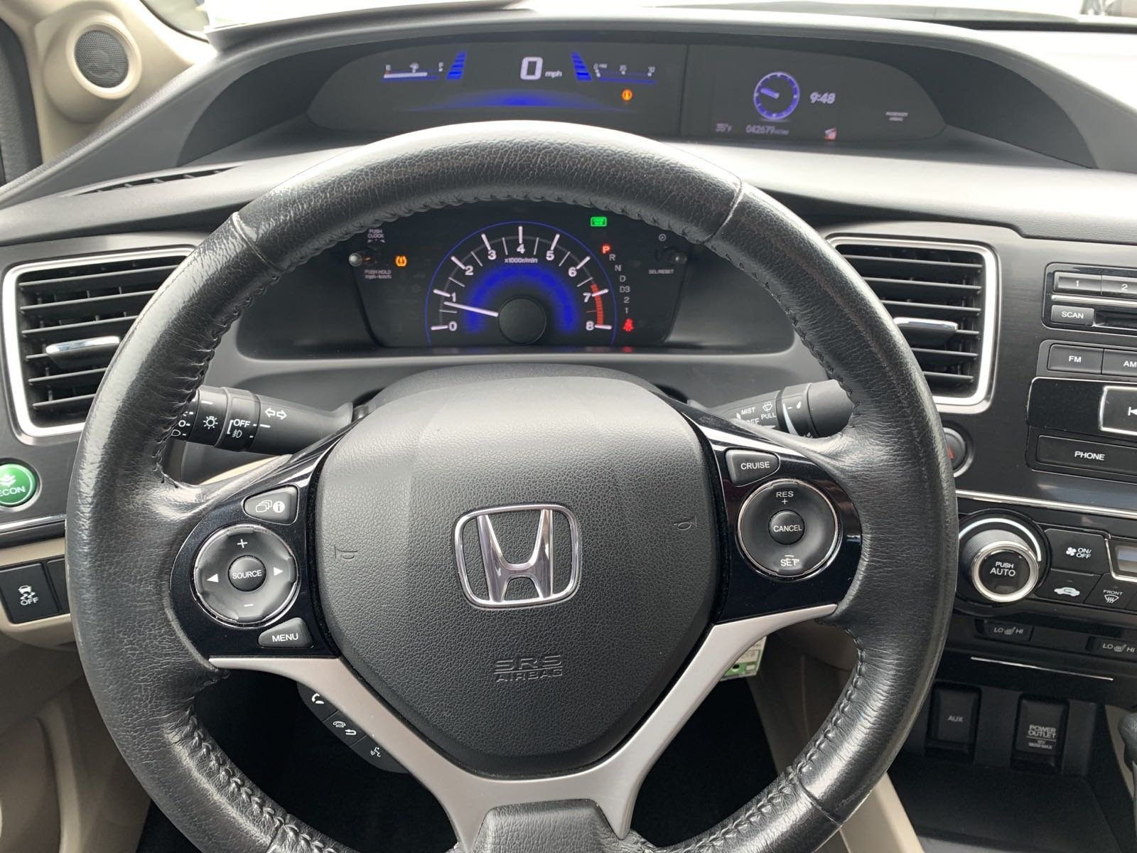 Certified Pre-Owned 2013 Honda Civic Sdn EX-L